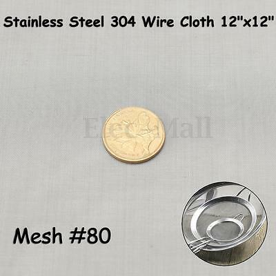 Stainless Steel 304 Mesh #80 Woven Wire Cloth Screen  12''x12''