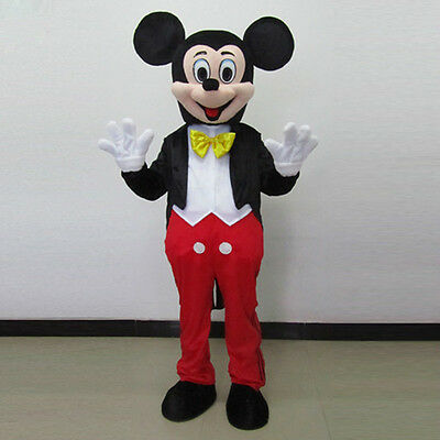 Hot Sale Mickey Mouse Adult Mascot Costume Party Clothing Fancy Dress outfit NEW