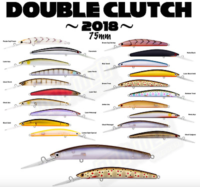 Daiwa Double Clutch Lures 60mm, 75mm, 95mm