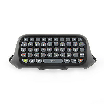 Black Wireless Messenger Chatpad Keyboard Keypad Text Pad for Xbox360 Controller