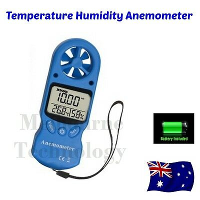 Anemometer Wind Speed Temperature Humidity Meter w/ Calibration Function