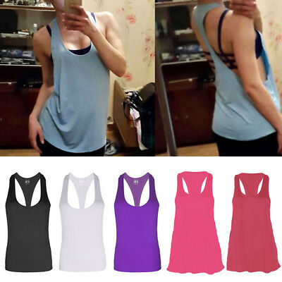 Women GYM Fitness Sports Tank Top Seamless Blouse Stretch Vest Quick-dry Shirt