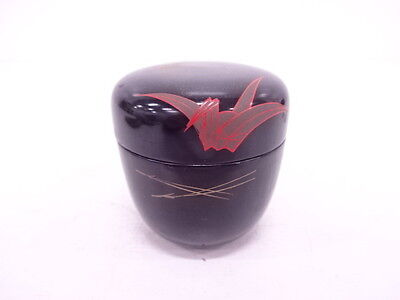 2844279: Japanese Tea Ceremony / Natsume (Tea Caddy) / Lacquer / Origami Crane W
