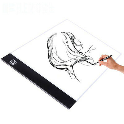 A4 Ultra Slim LED Light Pad Lightbox Art & Craft Tracing Lightpad Graphics Board
