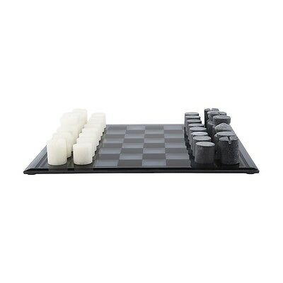 Decorative Chess Set Marble and Glass Indoor Game Set