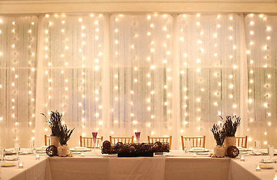 160 ft 400 LED Window Curtain Lights String Fairy Light Wedding Party Decoration