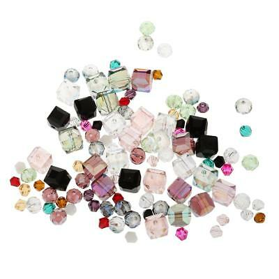 100Pcs Assorted Crystal Beads DIY Charms for Jewelry Making Hair Bow Craft