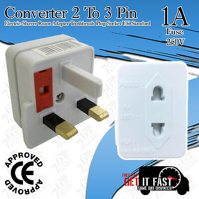 Lot of 1A Electric Converter Adaptor Shaver Razor Toothbrush Plug Socket 2 To 3p