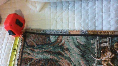 """VINTAGE LARGE French EQUESTRIAN FOX HUNTING Tapestry 61""""X29"""""""