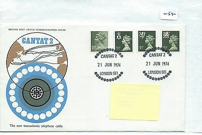 wbc. -  GB - FIRST DAY COVER - FDC - 054 - SPECIALS - 1974 - CANTAT 2 - CABLE