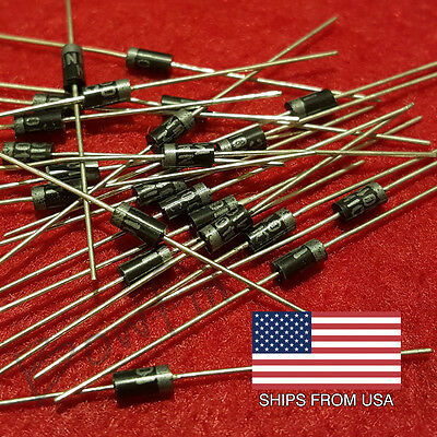 (100 pack) 1N4001 Power Blocking Diodes 1 Amp - Quick & Free Shipping from USA!!