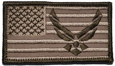 USA Flag with Superimposed US Air Force Emblem - 2x3.5 Patch