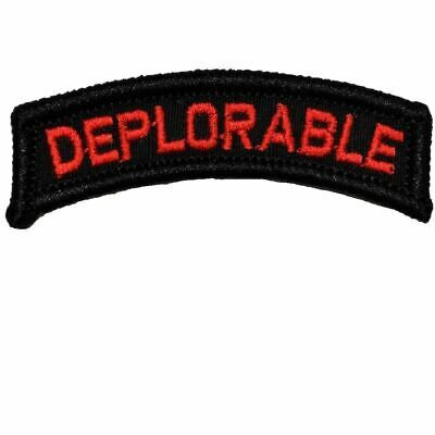 Deplorable - Military/Morale Tab Patch Hook Backing