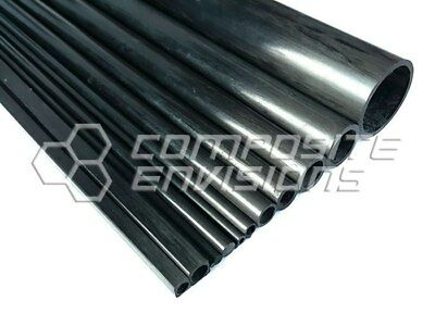 Carbon Fiber Pultruded Round Tube 20mm OD x 16mm ID x 1.2m