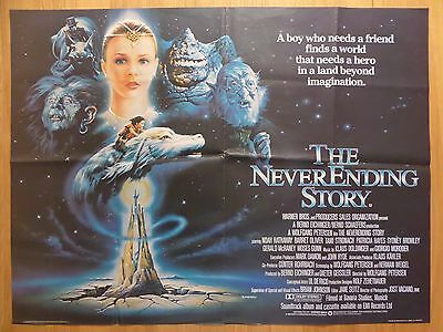 THE NEVER ENDING STORY (1984) - original UK quad film/movie poster, children's