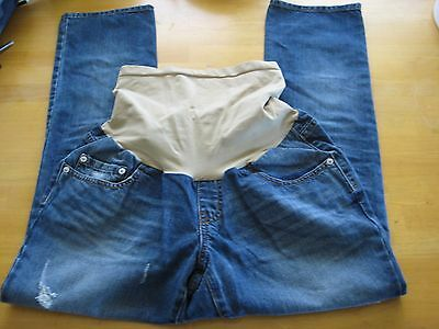 GET USED by LEXI Maternity Distressed Blue Denim Jeans Size M