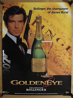 GOLDENEYE (1995) - original UA Bollinger promotional poster, James Bond 007
