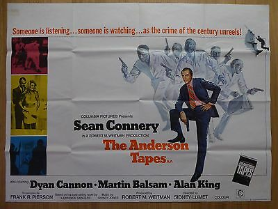 THE ANDERSON TAPES (1971) - original UK quad film/movie poster, Sean Connery