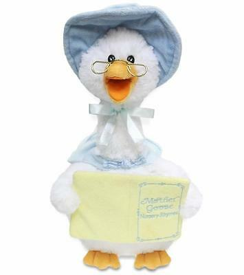 Cuddle Barn Animated Plush MOTHER GOOSE Nursery Rhyme and Sings BLUE GOOSE
