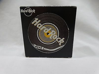 Hard Rock Cafe Record Coasters Brand New Set of 4