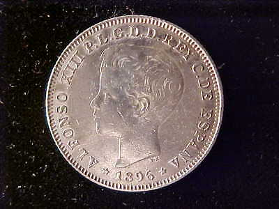 Puerto Rico 40 Centavos 1896 Vf Cleaned