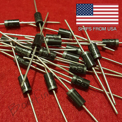 (25 Pack) 1N5406 General Purpose Diodes 3 amp - Quick & Free shipping from USA!!