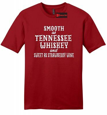 Smooth As Tennessee Whiskey Mens Soft T Shirt Funny Country Alcohol Party Tee Z2