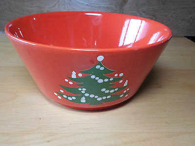 """Waechtersbach CHRISTMAS TREE RED 8"""" Serving Bowl 1 ea      2 available"""