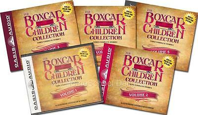 NEW 15 Audiobooks 5 BOXCAR CHILDREN COLLECTION Sets Volumes 1-5 30 Audio CDs