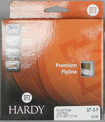Hardy Premium Fly Line Floating Dt-5-F 30 Yard Olive Flyline