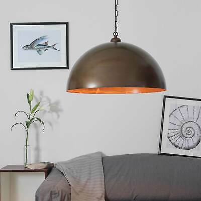 Vintage Hanging Light Antique Brown Incl. Brighter 12W LED Ø50cm Kitchen
