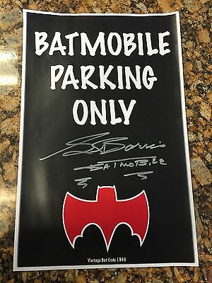 Batmobile Parking Only George Barris Kustom Autograph 66 TV Vintage Bat Man Car