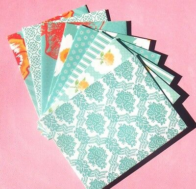Turquoise - A2 Handcrafted Envelope Set