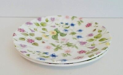 Rosina Queens Country Meadow Large Breakfast Saucer Only Pink Lavender Yellow