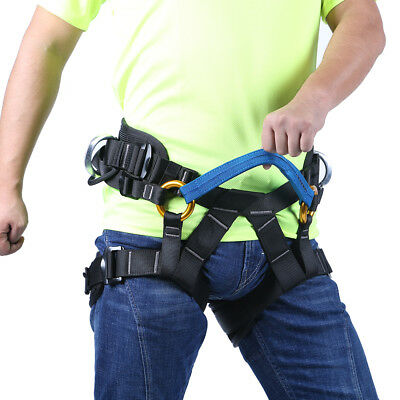 Rock Climbing Downhill Rappelling Rescue Harness Safety Sitting Bust Belt