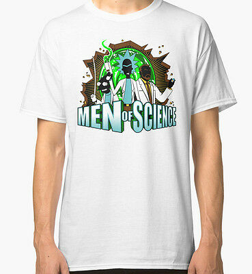 New Men of Science Rick n Morty Men's T-Shirt Size S-2XL