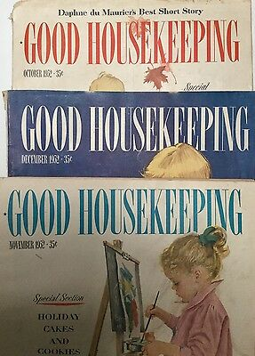 1950.s VTG LOT OF 3 GOOD HOUSEKEEPING COLLECTABLE MAGAZINES