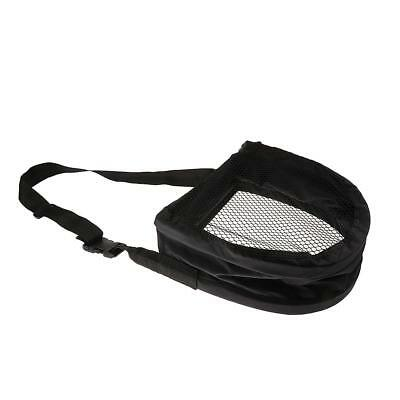 Fly Fishing Line Tray String Bag Nylon Mesh Stripping Basket w/ Waist Belt