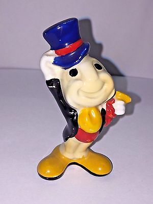 RARE Vintage Walt Disney JIMMY THE CRICKET Figurine Japan Made Ceramic Christmas