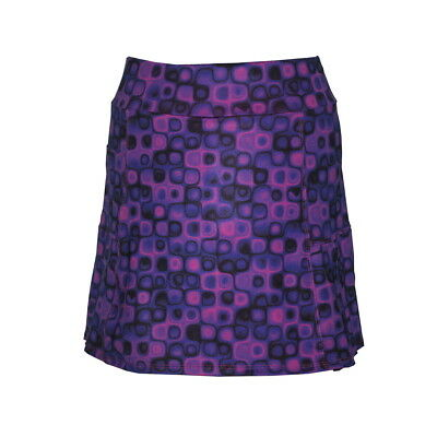 Women's Golf Skort in Honeycomb Print - Red, Mulberry or Blue