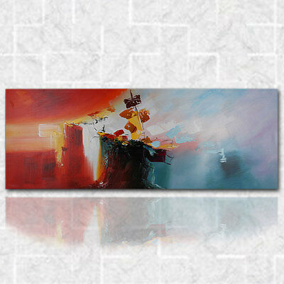 Abstract Sailing Oil Painting Modern Canvas On Art Wall Decor Handpainted Framed