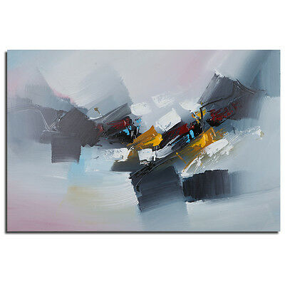 Modern Abstract Oil Painting On Wall Art Decor Canvas Handpaint Stretched Frame