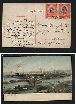 Peru  169 (2)  on post card to US                   KL1129