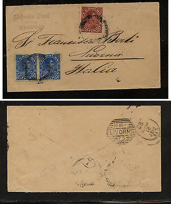 Venezuela  123, 124 (2)  on cover to Italy             HS0921