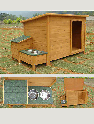 Winter Sale Dog Kennel, Pet Home With 2 Feeder Bowls & Storage Box - Medium