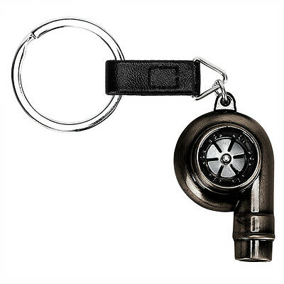 Car Metal Real Whistle Sound Turbo Keychain Key Chain Ring Turbocharger Keyfob