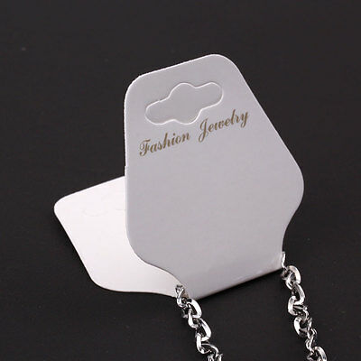 New 100 Fashion White Necklace Chain Jewellery Display Cards Tag Jewellery Paper