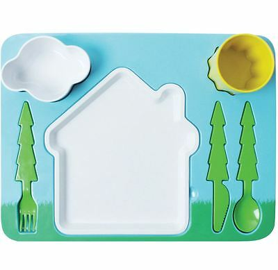 New Doiy Dinner Set Kids Tableware Dinnerware Plates Dishes Kitchen Landscape