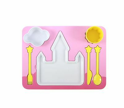 New Doiy Dinner Set Kids Tableware Dinnerware Plates Dishes Cup Kitchen Princess