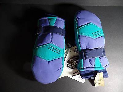 Eddie Bauer Women's Tri-Color Snowline Mittens - Medium - 1980's BRAND NEW